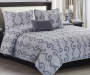 Ciara Gray 5-Piece King Quilt Set Lifestyle Image