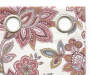 Clare Pink White and Green Floral Curtain Panel Pair Swatch