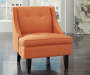 Clarinda Orange Accent Chair Lifestyle