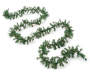 Clear 150 Light Pine Garland 18 Feet Snake Pose Angled View Silo Image