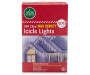 Clear High Desnity Icicle Lights 300 Count in Package Silo Image