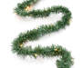 Clear Pre Lit Pine Garland 18 Feet Snake Pose Silo Image