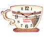 Coffee House Cup Clock Silo Image