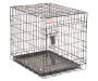 Coleman Small Black Dog Crate with Plastic Tray Silo Image