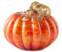 Color Spotted Glass Pumpkin with Curly Vine Silo Image