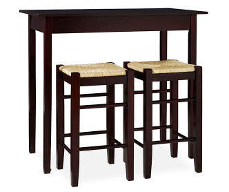 Industrial Dining Set With Blue Chairs Big Lots
