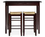 Colton 3 Piece Pub Table Set with Rush Stools silo front