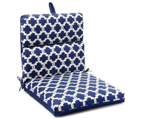 Compton Navy Tile Reversible Outdoor Chair Cushion Big Lots