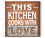 Cooks With Love Wooden Wall Plaque Silo