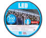 Cool White LED Lite Lock Icicle Light Wheel 160 Count Overhead Shot Silo Image