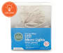 Cool White LED Micro Battery Operated Light Set 50-Count In Package Silo