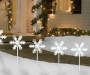 Cool White LED Snowflake Pathway Lights 5 Pack Outdoor Environment Lifestyle Image