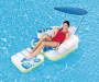 CoolerZ Tiki Time Lounger in Pool with Model Lifestyle Image