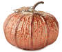 Copper Metal Pumpkin Decor with Curly Handle Silo Image