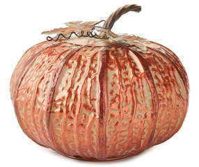 Copper Metal Pumpkin D 233 Cor Big Lots