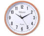 Copper Rim Wall Clock 12in silo front