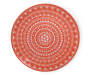 Coral Abstract Medallion Melamine Dinner Plate Silo