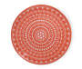 Coral Abstract Medallion Melamine Salad Plate Silo