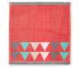 Coral Triangle and Stripes Wash Cloth Laid Out Solid Color Silo Image