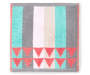 Coral Triangle and Stripes Wash Cloth Laid Out Stripes Silo Image