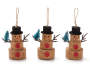 Cork Snowmen Ornaments 3 Pack Overhead Out of Package Silo Image