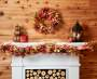 Corn Husk and Pinecone Garland 5FT On Mantel Lifestyle Image