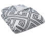 Corretta Gray and Black Lines Full 8 Piece Reversible Comforter Set silo front