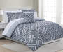 Corretta Gray and Black Lines Queen 8 Piece Comforter Set lifestyle