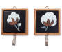 Cotton Stem Wall Decor with Hooks 2 Piece Set silo front