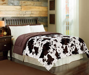 Arctic Trail Cow Faux Fur Full Queen Comforter Big Lots