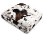 Cow Fur Faux Throw Folded with Corner Folded Silo Image