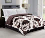 Cow and Chocolate Brown Faux Fur Reversible Full Queen Comforter Bedroom Setting