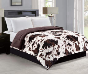 Living Colors Cow Amp Chocolate Brown Faux Fur Reversible