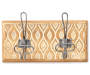 Cream Carved Wooden Wall Rack with Hooks Silo