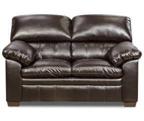 Simmons Crosstown Brown Loveseat Big Lots