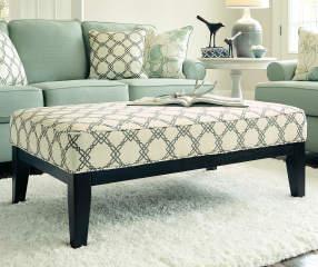 Signature Design By Ashley Daystar Seafoam Pattern Ottoman