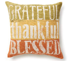 Quot Grateful Thankful Blessed Quot Throw Pillow 18 Quot X 18