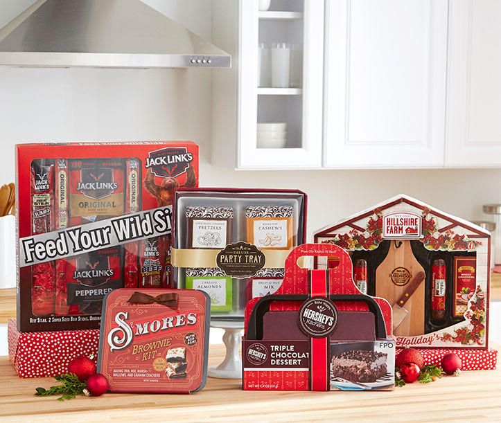 Shop Food Gift Sets. Baking mixes, cheeses, meats, coffee and more.