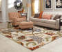 Dalewood Ivory Area Rug 6FT7IN x 9FT3IN Living Room with Arm Chair and Sofa Lifestyle Image