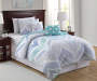 Living Colors Darcy Chevron Blue, White & Teal Quilt Sets