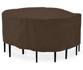 """Dark Brown Round Patio Table & Chair Cover, (108"""") 