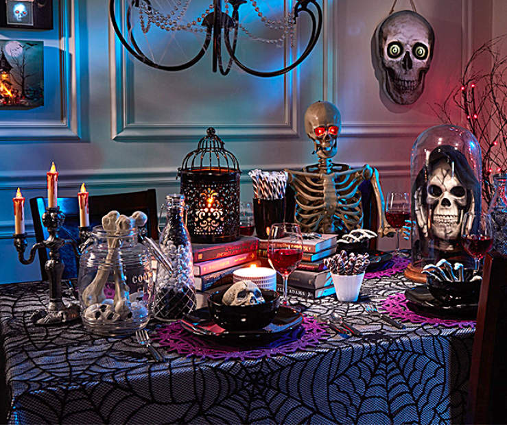 Dark Indoor Dining Halloween Décor Collection