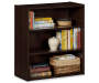 Dark Russet 3-Shelf Bookcase