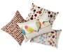 "Decorative Dots Throw Pillow, (14"" x 20"")"