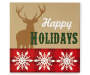 Deer Tabletop Happy Holidays Christmas Plaque Overhead Shot Silo