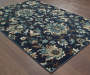 Delta Navy Area Rug 6FT7IN x 9FT6IN Silo Image