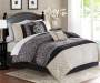 Dilan Black & Ivory 10-Piece Queen Comforter Set