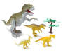 Dinosaur Play Set with Light Up T Rex 5 Piece Set Out of Package Silo Image