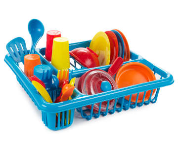 Beginning Kitchen Set With Dish Rack