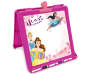 Disney Princesses Double Sided Tabletop Easel White Board Side Angled View Silo Image